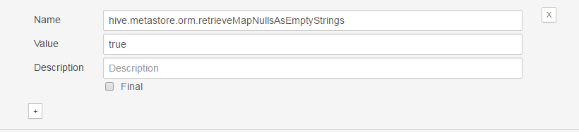 Enable Hive Metastore NULL value as empty string